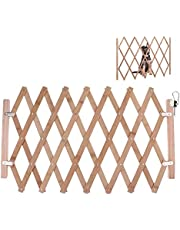 Expansion Walk Thru Room Divider Gate, Pet Gate, Retractable Baby Gate, Wooden Accordion Expansion Dog Gate For Doorway Stairs, Retractable Gate Safety Protection For Small Medium Pet Dog