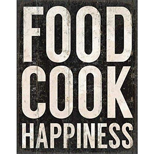 Food Cook Happiness Distressed-Wood Box 11x14 Sign by Sixtrees - ()