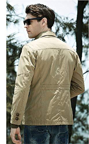 Sezione Sezione Sezione Autunno Long Da Da Da Da Da Uomo Abiti Comode Capispalla Classic Giacche Cotton Uomo Ntel Khaki Taglie Giacche FPEwn7qI7