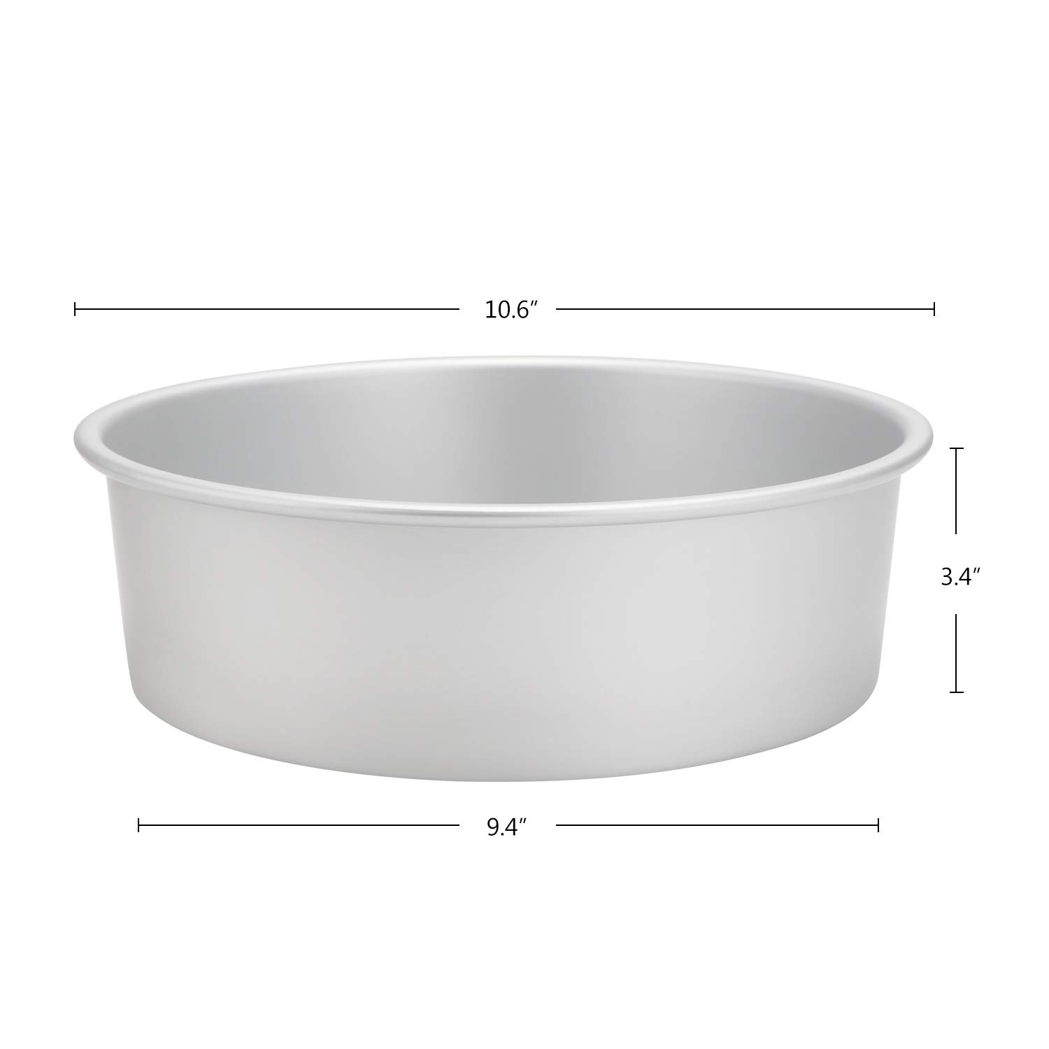 Cake Baking Pan Beasea 6 Inch Set of 2 Aluminum Alloy Round Cake Pan Cheesecake Pan with Removable Bottom