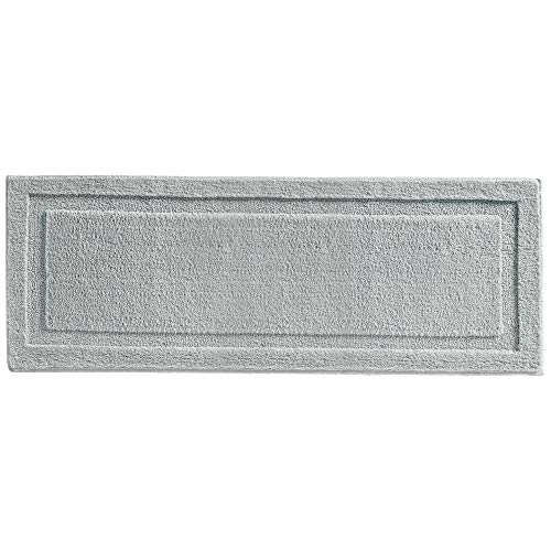 "mDesign Soft Microfiber Polyester Non-Slip Extra-Long Spa Mat/Runner, Plush Water Absorbent Accent Rug for Bathroom Vanity, Bathtub/Shower, Machine Washable - 60"" x 21"" - Gray"