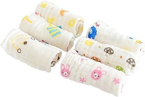 Bebé Toallitas toallas de baño de 6 paquetes muselina algodón ...