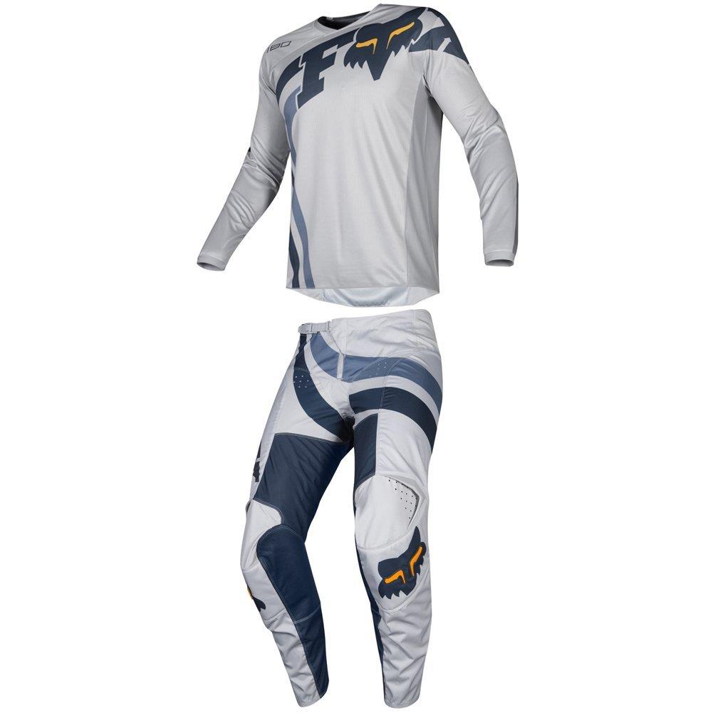 Fox Racing 2019 180 COTA Jersey and Pants Combo Offroad Gear Set Adult Mens Gray/Navy Medium Jersey/Pants 32W
