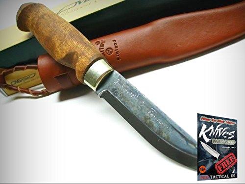 MARTTIINI Stained Birch LYNX LUMBERJACK Straight Fixed Knife + Sheath! 127012 + free eBook by ProTactical