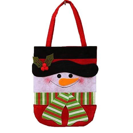 SPFAZJ Medias Santa Claus Navidad Bolsa Navidad Candy Bag ...