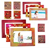 Gift for Mom 12 Piece Magnetic Picture Frames and Refrigerator Magnets with Inspirational Quotes Photo Collage by Sheen 5x7 4x6 3.5x5 2.5x3 Wallet - Mom Gifts - Gift for Mother - Birthday Gift for Mom