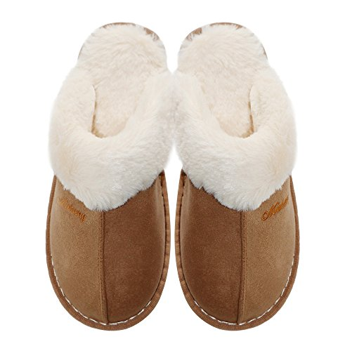 Fluffy Slippers Winter light OSHOW Soft Slipper Slip Clog Brown A House Slipper Womens Model Indoor for Outdoor On OqYqE