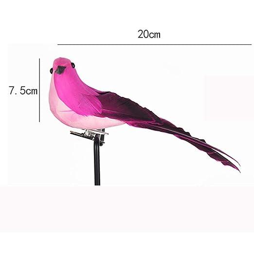 Amazon.com: Fan-Ling coloridos loros falsos, pájaros ...