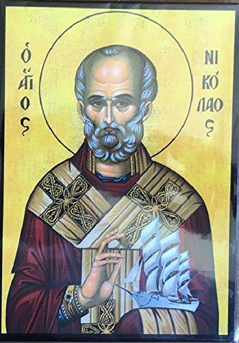 Icono-de-San-Nicolas-Hecho-a-Mano-en-Grecia
