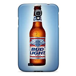 New Arrival Case Cover With QuB1714TxaI Design For Galaxy S4- Bud Light
