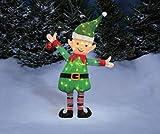 38'' Santa's Elf Tinsel Sculpture Outdoor Christmas Yard Lawn Decoration Seasonal Display