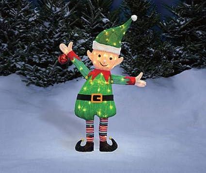 38 santas elf tinsel sculpture outdoor christmas yard lawn decoration seasonal display