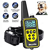 Shock Collar for Dogs, Dog Shock Collar with Remote for Large Dogs Or Small Dogs Dog Training Collar for 2600ft Range 100% Waterproof & Rechargeable, Beep, 99 Levels Vibrate and Shock, LCD Display
