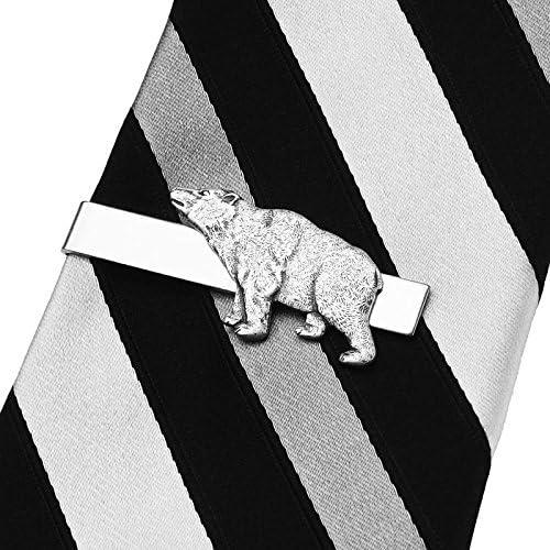Quality Handcrafts Guaranteed Bear Tie Clip