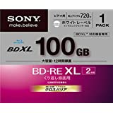 1 Sony Blu Ray BDXL Discs 100 GB BD-RE BDXL 3D Bluray Triple Layer Bluray Disc