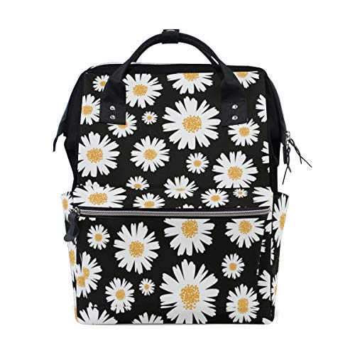 Daisy Diaper - Diaper Bags Backpacks Mummy Backpack with White Daisy Travel Laptop Daypack