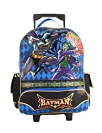 "Batman Rolling Backpack - Batman Vs. Joker 15"" Large Rolling Backpack"