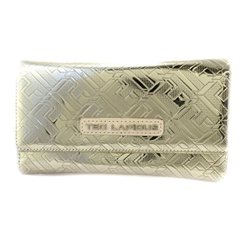 Wallet + checkbook holder 'Ted Lapidus' golden champagne. by Ted Lapidus