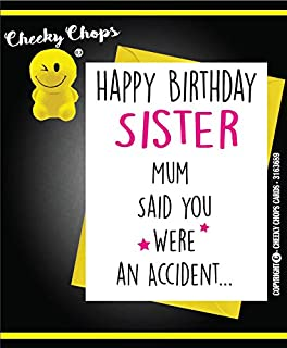 Funny happy birthday card from cat theme joke rude humour for owner cheeky chops birthday greetings card rude funny offensive humour novelty bookmarktalkfo Gallery