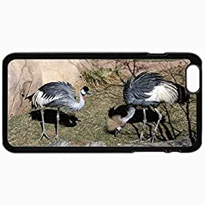 Fashion Unique Design Protective Cellphone Back Cover Case For iPhone 6 Case East African Crowned Cranes Black