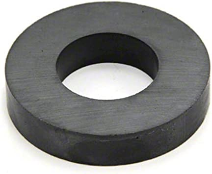 5kg Pull 50mm O.D x 25mm I.D x 10mm Y30BH Ferrite Ring Magnet Pack of 40