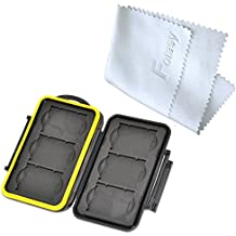 Fotasy MC-XQD6 Rubber Sealed Water Resistant Memory Card Case fits 6 x XQD Cards
