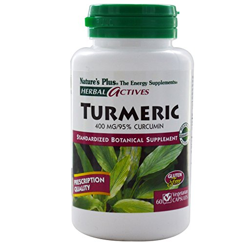 Nature's Plus, Herbal Actives, Turmeric, 400 mg, 60 Veggie Caps - 3PC by Nature's Plus