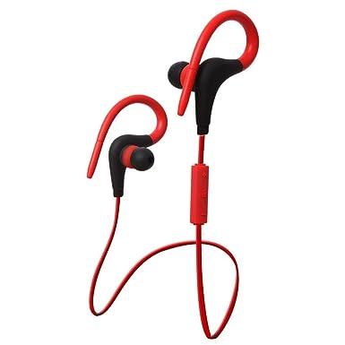 Tefamore Auriculares Bluetooth De Gancho Del Oído De Estéreo Inalámbrico Impermeable De Deportes (A)
