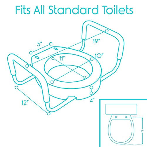 Pleasing Vive Toilet Seat Riser With Handles Raised Toilet Seat Pdpeps Interior Chair Design Pdpepsorg