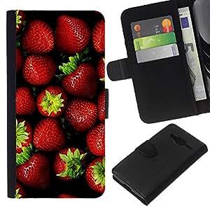 KingStore / Leather Etui en cuir / Samsung Galaxy Core Prime / Fresa