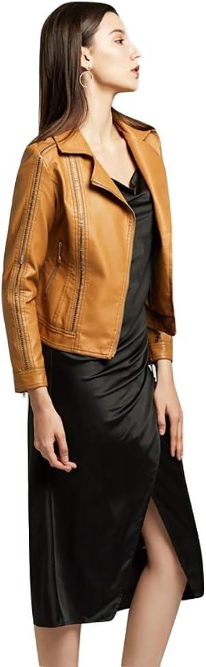 MLYWD Veste pour Femme Veste à Manches Longues Veste à Manches Longues D'éQuitation Printemps Et Automne Chic Coupe-Vent Slim Sport LéGer Veste Pilote Vintage Plus Velvet Brown