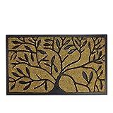 Northlight Decorative Black Rubber and Coir Outdoor Rectangular Door Mat 29.5'' x 17.75''