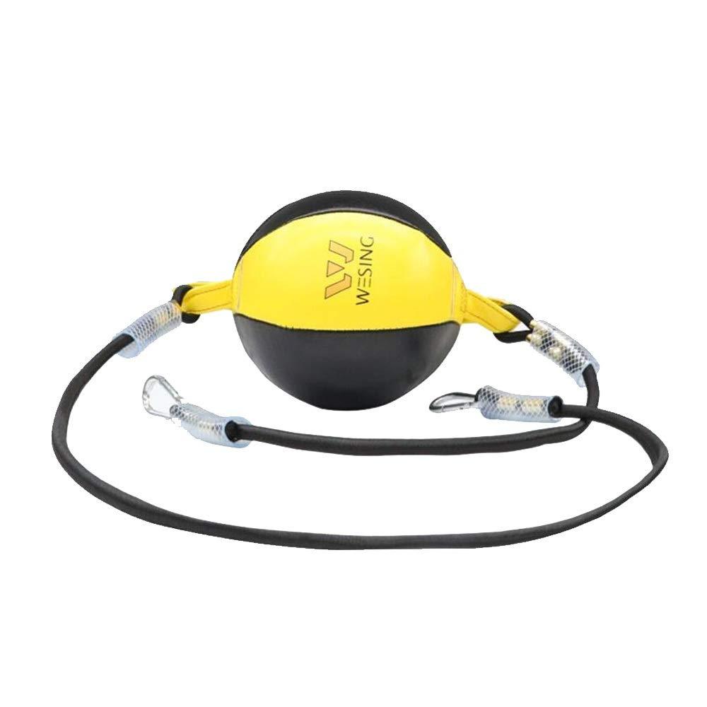 MINRUIGONGMAO Boxing Punching Bag, Martial Arts Fight Boxing Reaction Ball, Home Fitness Equipment, PU, Black Sporting Goods, (Color : Yellow) by MINRUIGONGMAO