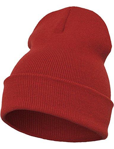 Flexfit - Gorro Largo Pesado, Todo el año, Unisex, Color Morado, tamaño Talla única rojo