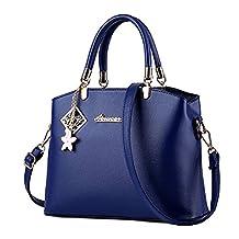 Donalworld Women Bow Vintage Top Handle Tote Satchel Handbags