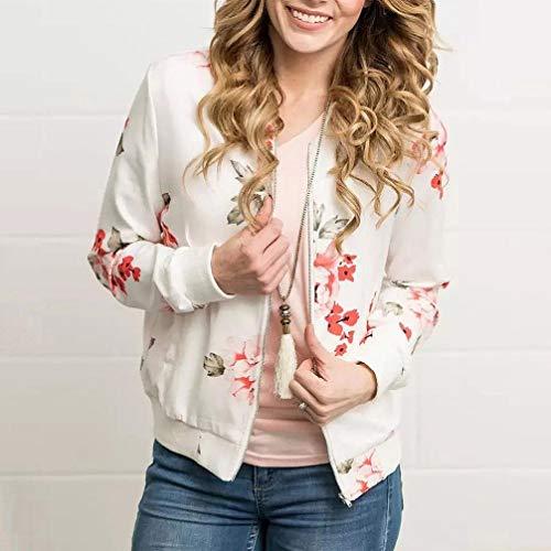 Élégant Casual Grande Blouse Vêtements Automne Mode Lâche Femmes Tops Manteau Impression Chic Manches Manteau Longues Sweatshirt Blanc Adeshop Zipper Veste Taille vwSTqBqZ