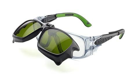 Univet 5X9 gafas de seguridad con desmontable IR5 pantalla 5 lente abatible de seguridad para soldar