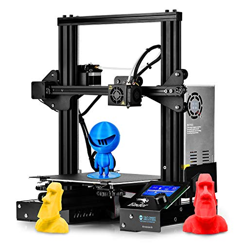 SainSmart x Creality Ender-3 3D Printer, Resume Printing V-Slot Prusa i3, Build Volume 220 x 220 x 250 mm, for Home and School Use