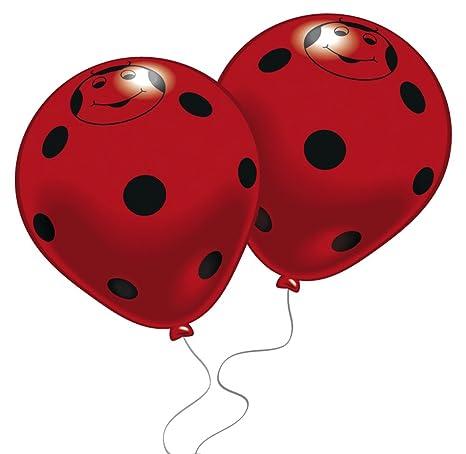 8 globos con forma de mariquita