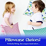 Dreamtown Kids Toddler Pillow with Pillowcase 14x19