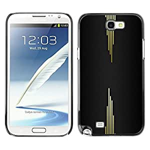MOBMART Carcasa Funda Case Cover Armor Shell PARA Samsung Note 2 N7100 - Metallic Lines In Opposite Directions