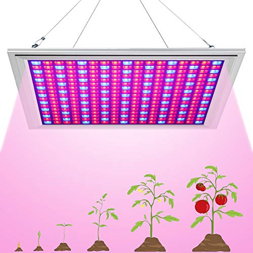 LED Grow Light for Indoor Plants Growing Lamp 289 LEDs 150W Red Blue Spectrum Full Aluminum Dimmable Plant Lights Bulb Panel for Hydroponics Greenhouse Germination Seedling Veg and Flower by ()