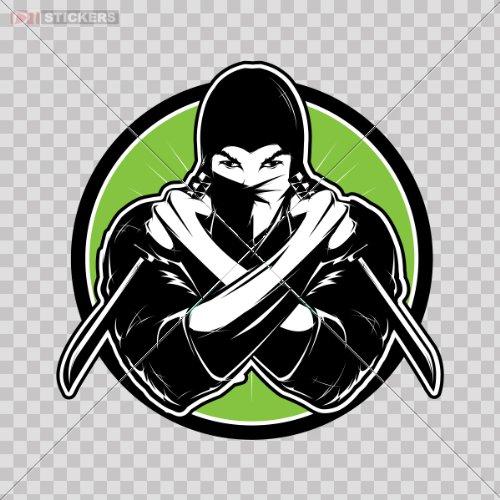 Amazon.com: Sticker Decal Ninja Logo Color Print (8 X 7.9 ...