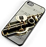 iPhone Case Fits Apple iPhone 8 PLUS 8+ Clarinet Single Reed Mouthpiece Flared Bell Black Plastic
