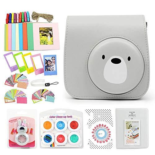 WOGOZAN Camera Accessories for Fujifilm Instax Mini 9/8/8+ Instant Camera Includes Fuji Case with Adjustable Strap