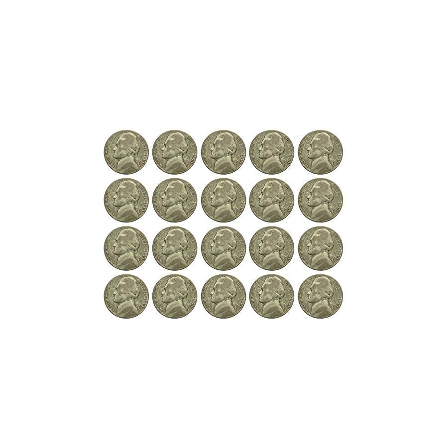 $1 Face (20 Coins) War Nickels 35% Silver Fine