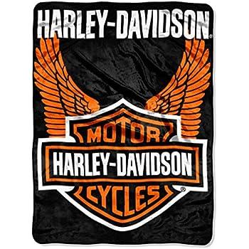 566d1bc65b Harley-Davidson Orange Wings Royal Plush Raschel Throw, 60 x 80 inch  NW488786