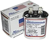 7.5 uf / Mfd Oval Universal Capacitor • Trane Replacement USA2031 - used for 370 or 440 VAC , Made in the U.S.A.