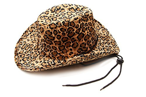 cca8ef23eba Captain Women s Cowboy Hat Leopard Print Cowgirl Hat With Fashion String -  Multicoloured -