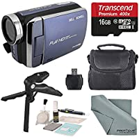 Bell & Howell Blue DV30HD 1080p HD Video Camera Camcorder + Basic Accessory Bundle + Professional Cleaning Kit
